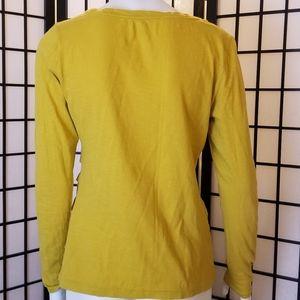 LOFT Tops - LOFT mustard cotton long sleeve top